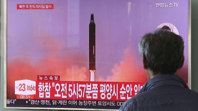 KĽDR, raketa, Japonsko
