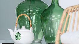 zelená, interiér