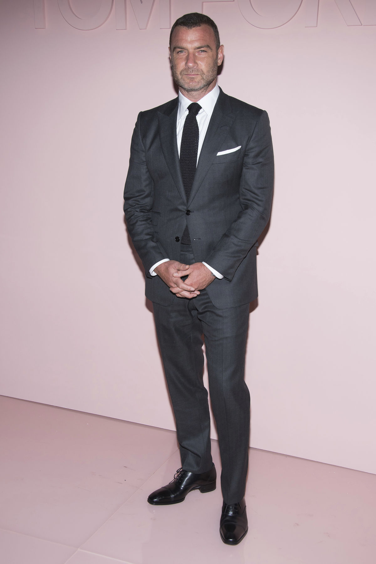 Herec Liev Schreiber na módnej šou Tom Ford.