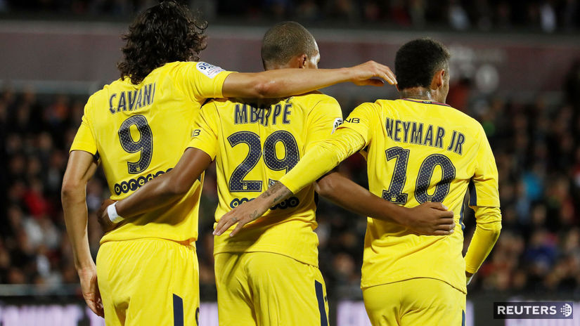 Edinson Cavani, Kylian Mbappé, Neymar