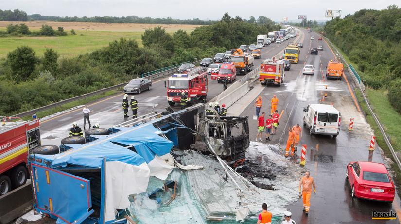 Havária na diaľnici