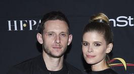 Herec Jamie Bell a jeho manželka Kate Mara.