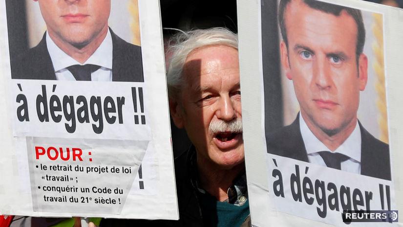 pariz, protest, macron