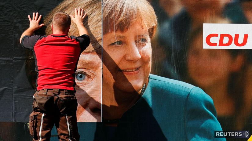 Angela Merkelová plagát