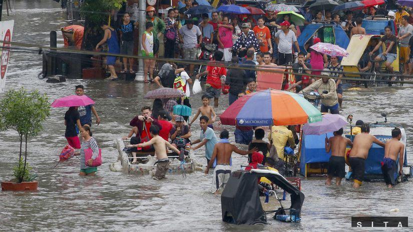 cyklón Maring, Filipíny