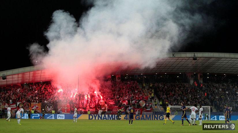 Spartak Moskva, fanúšikovia, pyrotechnika