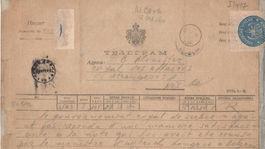 telegram, Buchlov, Buchlovice