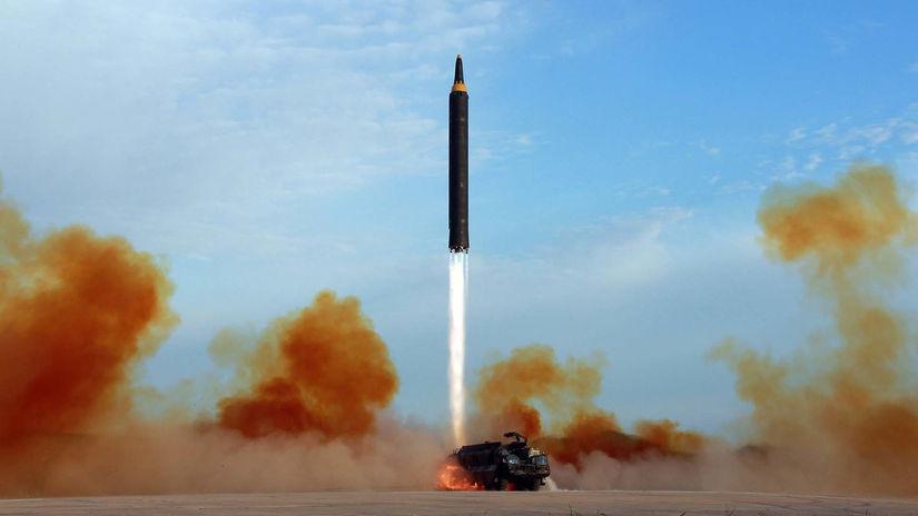 KĽDR štart rakety