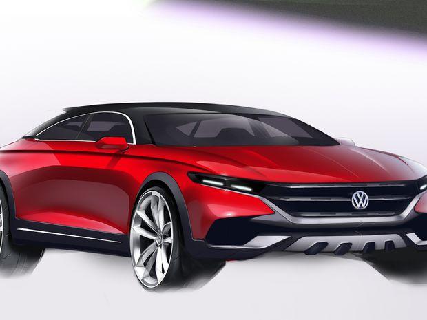 VW Phideon - skica