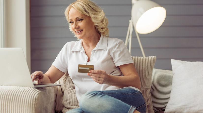 karta, dôchodca, platba