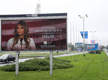 Melania Trump billboard