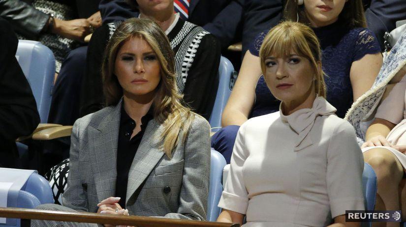 Melania Trump (vľavo) a Jarmila Lajčáková-Hargašová