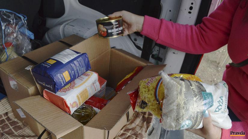 potraviny, pomoc, potravinový balíček