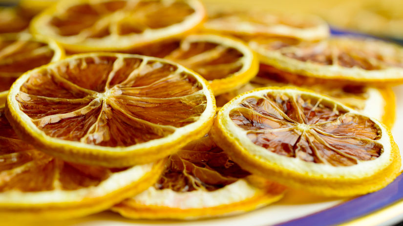 sušené pomaranče