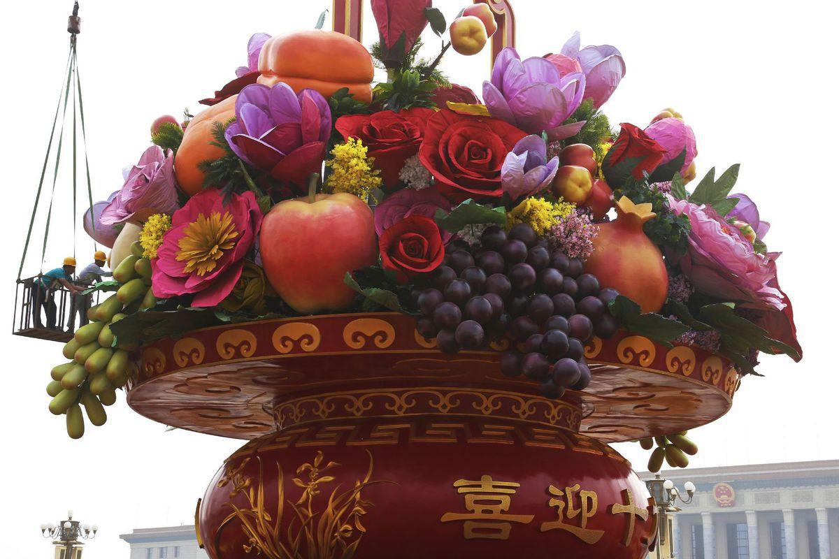 ovocie, socha, Čína