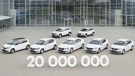 Škoda vyrobila 20 000 000  áut. Posledný  jej trval len 9 mesiacov