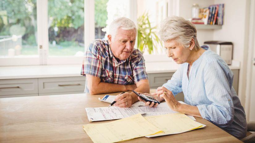 dôchodca, dôchodok, kalkulačka, účet, účty,...