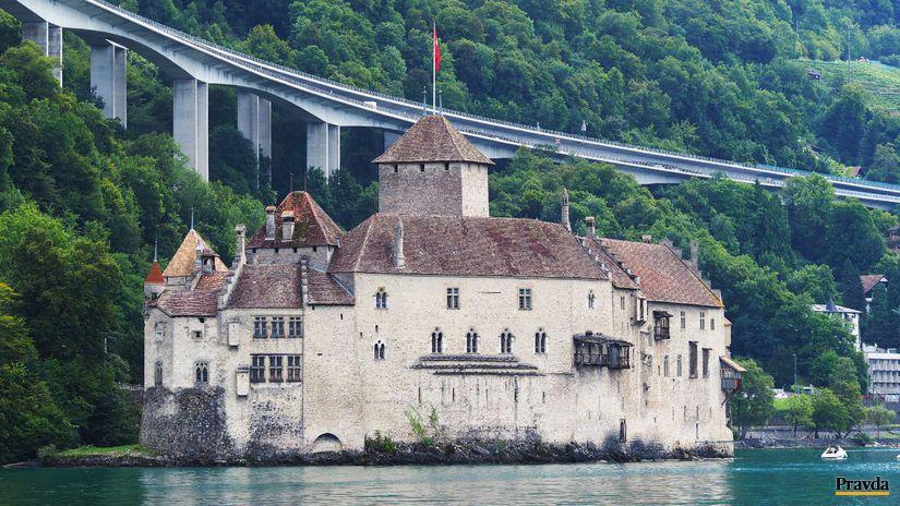 Švajčiarsko, zámok Chillon, Ženevské jazero