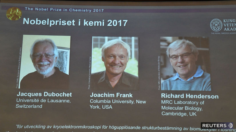 Nobelova cena, chémia, Dubochet, Frank, Henderson