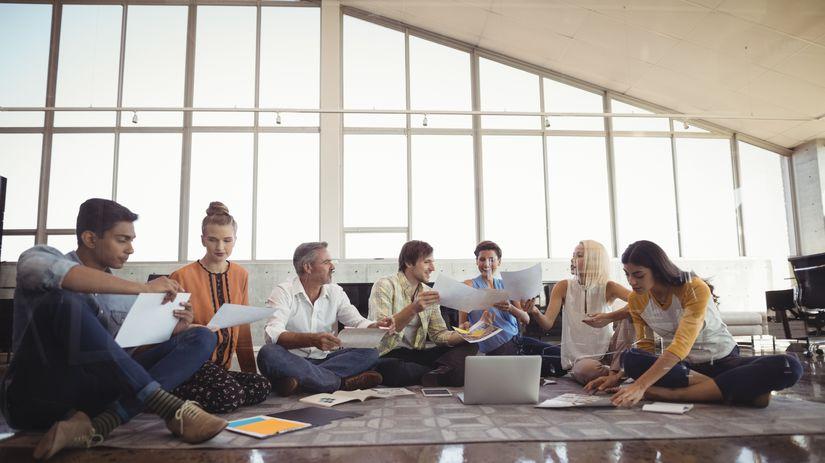 Ľudia, skupina, práca, meeting