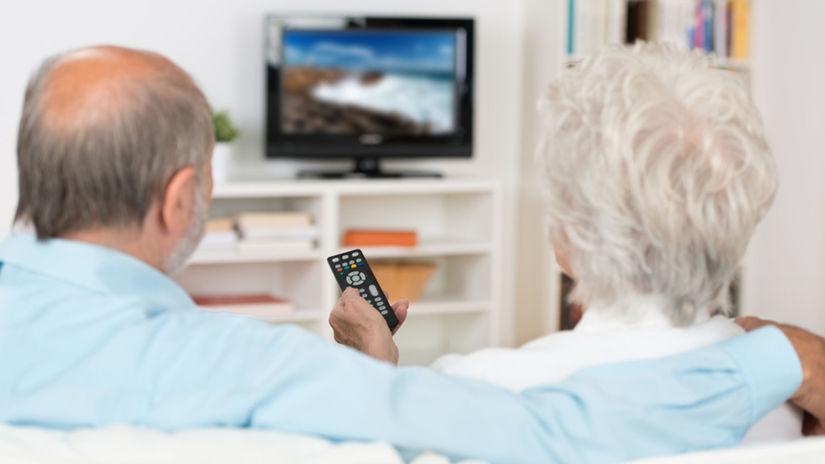 telka, televízor, dôchodca