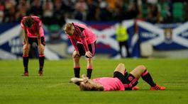 Škótsko, smútok, futbal