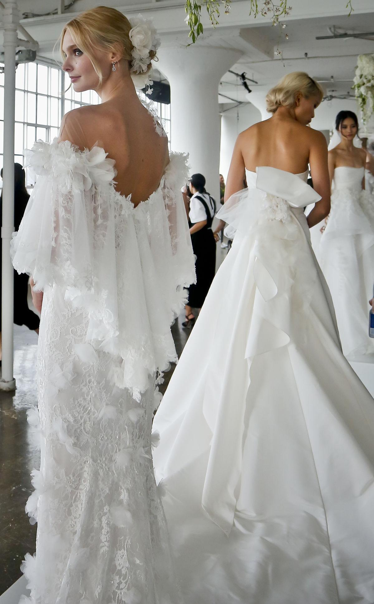 0d22b8b0c0b9 Modelky vo svadobných šatách z kolekcie Marchesa. Nové svadobné trendy na  sezńu Jar Leto ...