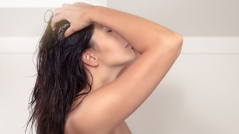 vlasy, žena, masáž