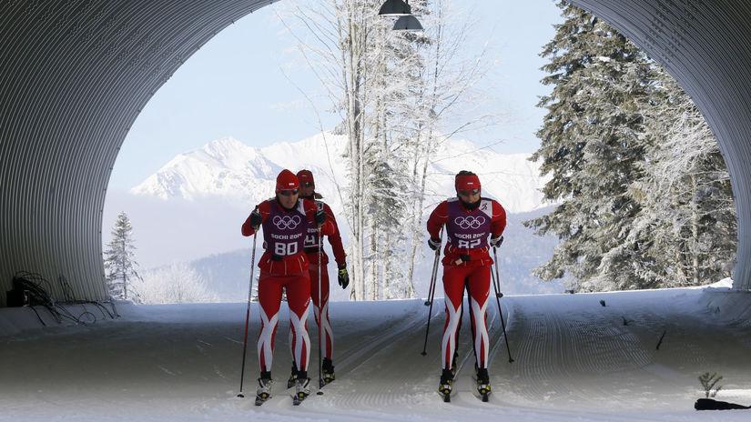 Beh na lyžiach, ilustračná