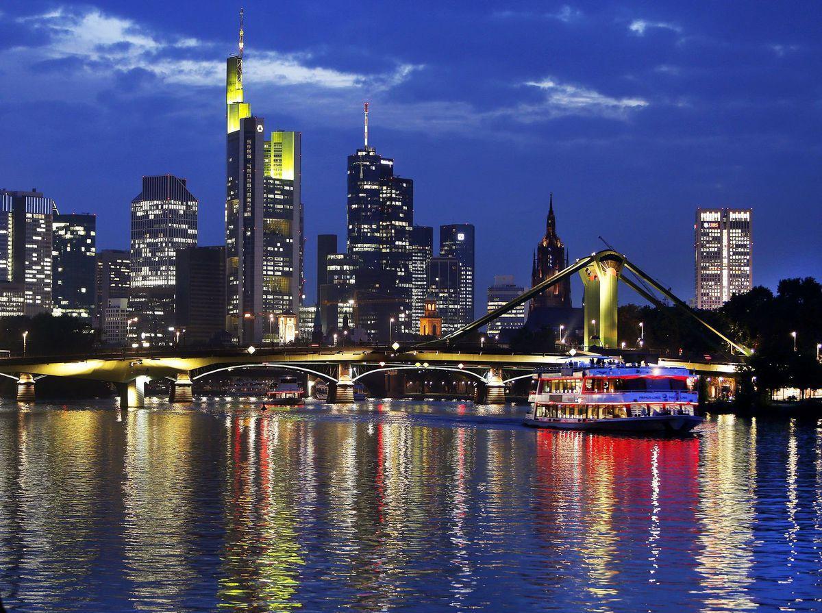 Frankfurt, Nemecko, mesto, rieka