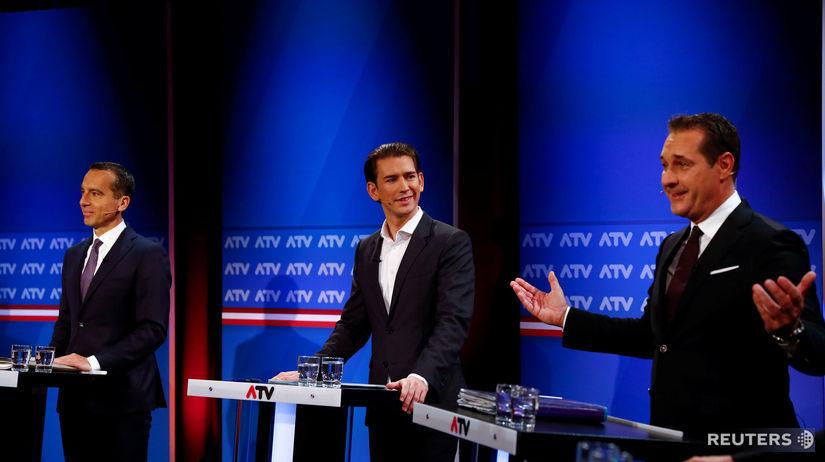 Rakúsko, voľby, Christian Kern, Sebastian Kurz,...