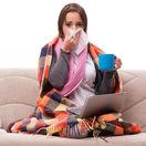 dievča, chrípka, prechladnutie, choroba