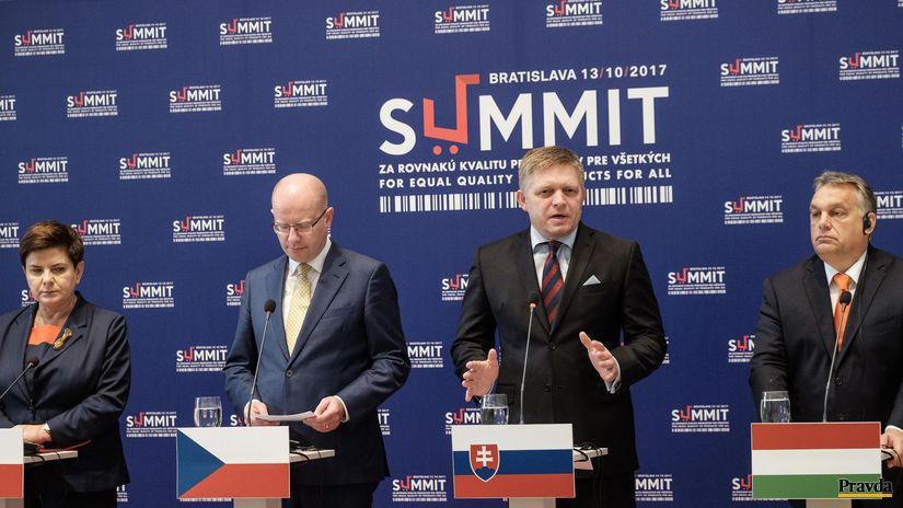 Fico, Orbán, Sobotka, Szydlová, summit v...