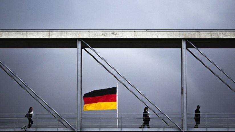 Nemecko, Berlín, vlajka, zástava, bundestag,...