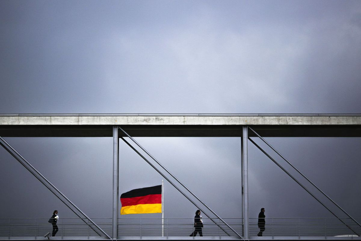 Nemecko, Berlín, vlajka, zástava, bundestag, parlament