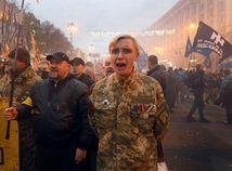 Centrum Kyjeva sa opäť sfarbilo dohneda