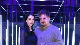 Dizajnér Boris Hanečka a jeho kamarátka a múza Lucia Hablovičová.