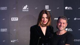 Jakub Polanka s modelkou Barborou Bruškovou