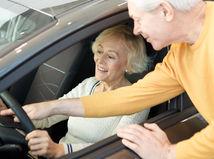 dôchodca, šofér, vodič, senior, auto, pzp