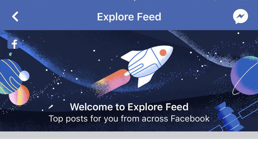 Explore feed, Prieskumník, Facebook