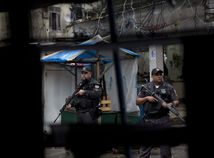 favela, slum, policia, policajt, rio, brazilia
