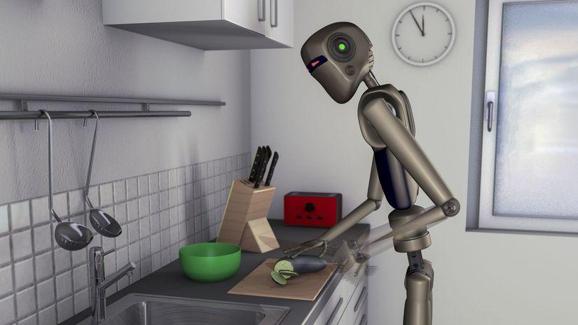 robot, kuchár
