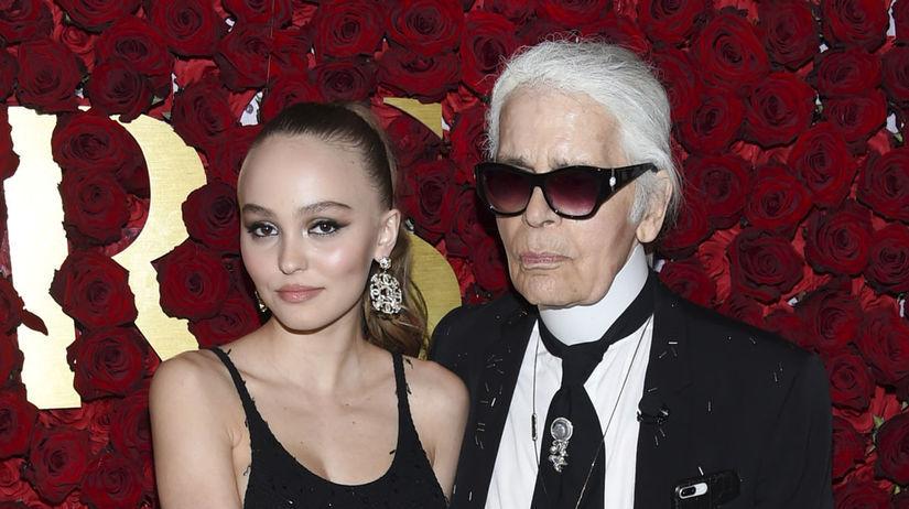Lily-Rose Depp a Karl Lagerfeld