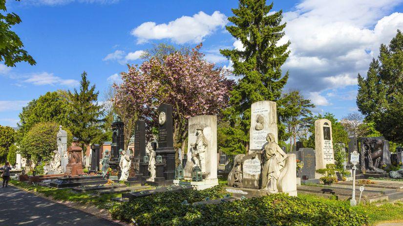 Zentranfriedhof, cintorín, hroby, dušičky, Viedeň