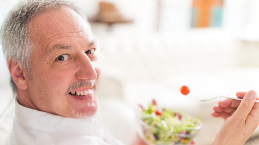 muž, jedlo, zdravá strava