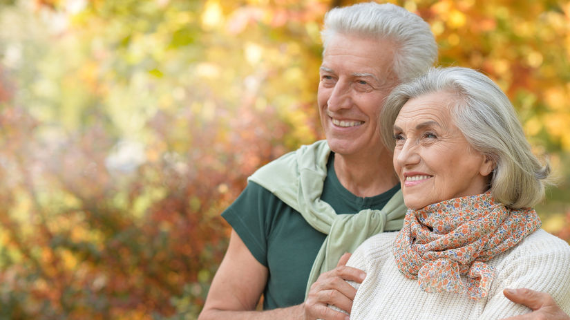 senior, dôchodca, jeseň