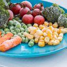 mrazená  zelenina, rozmrazovanie, blanšírovanie