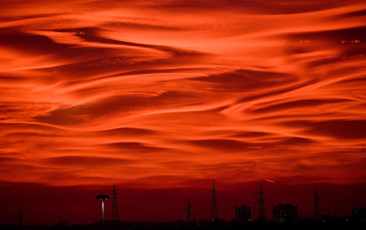 nebo, obloha, Taliansko, oblaky, slnko, večer, elektrina