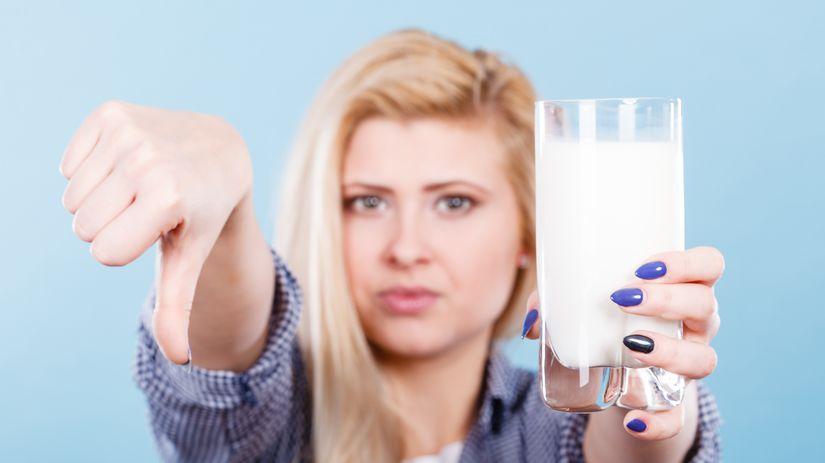 mlieko, laktóza, intolerancia