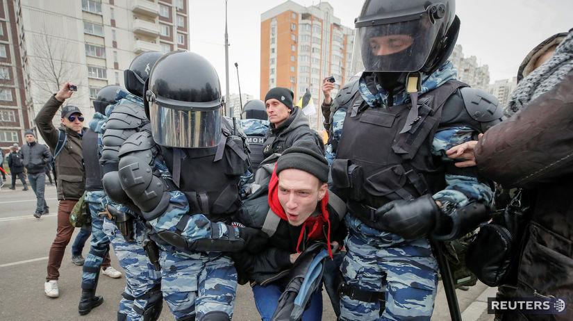 Rusko, pochod nacionalistov